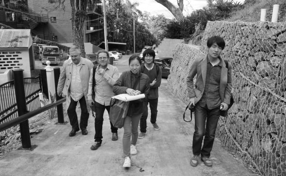 Architects or Anthropologists? (L-R Andrew Wilson, Paul Hotston, Chie Konno, Yohei Omura and Yo Shimada)