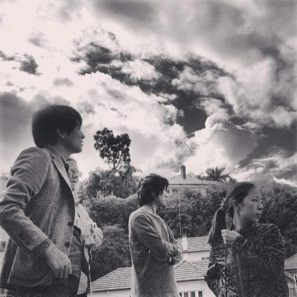 Shimada san, Paul Hotston, Yohei san and Konno san arrive on site.