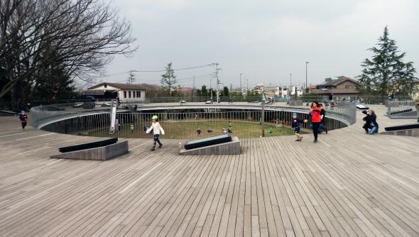 Tezuka Architects' Fuji Kindergarten. An ethereal handrail.
