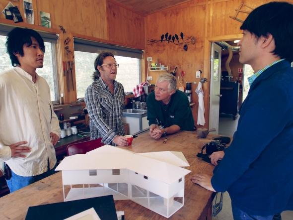Paul introduces Shimada san to Roy Schack.